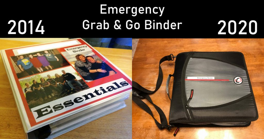 DIY Preparedness Emergency Binder Design 2014 and 2020